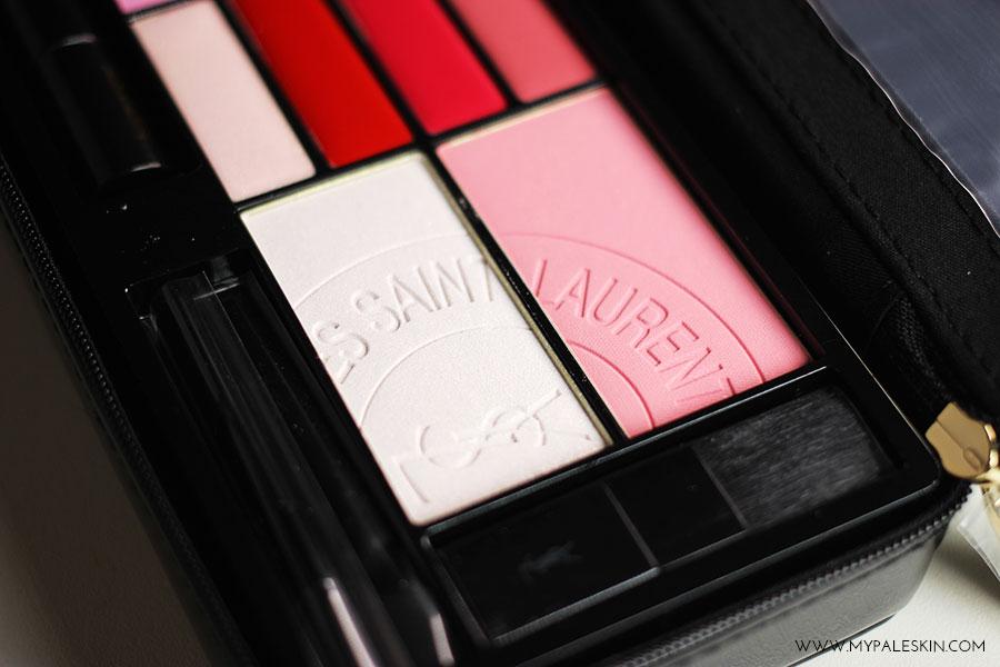 YSL Yves Saint Lauent, Palette, Tuxedo, Travel Palette, Make up, Beauty, eyeshadow, lipstick, lipgloss, blusher, highlighter, review, swatch, world duty free, jet set beauty, #jetsetbeauty