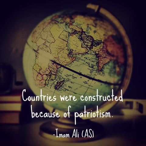 Countries were constructed because of patriotism.