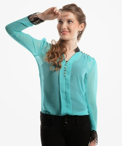 Stylish Top Designs 2014 | Latest Tops Designs With Skinny Jeans | She-Styles | Pakistani ...