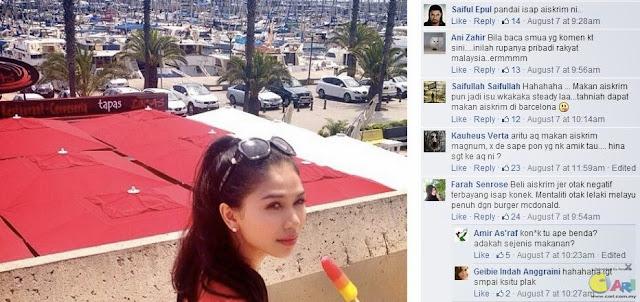 Mentaliti orang Malaysia gambar Anzalna Jilat Aiskrim Jadi Isu Lucah