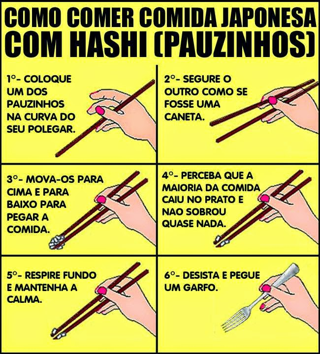 Como comer com Hashi (Dica)