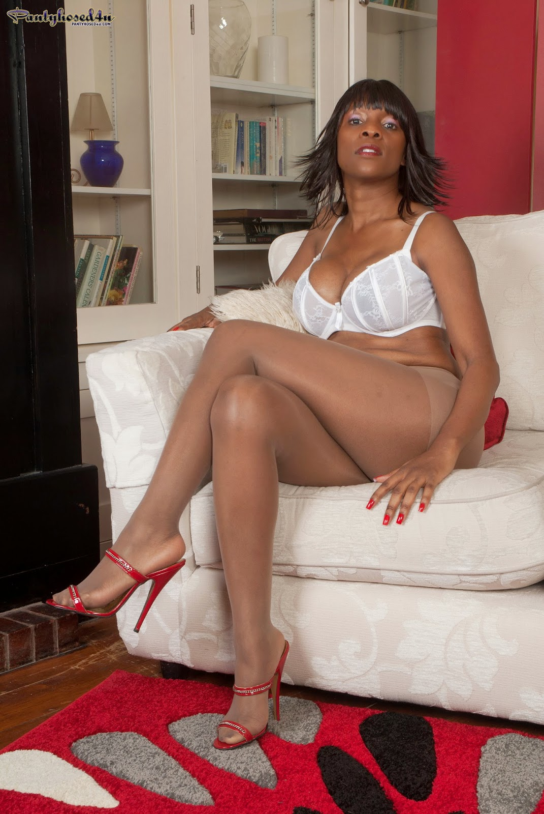 photos Ebony pantyhose