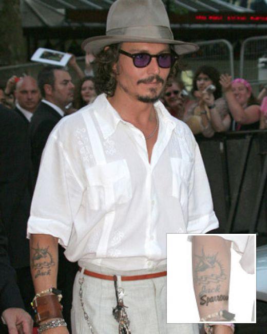 johnny depp tattoos 2010. johnny depp tattoos.