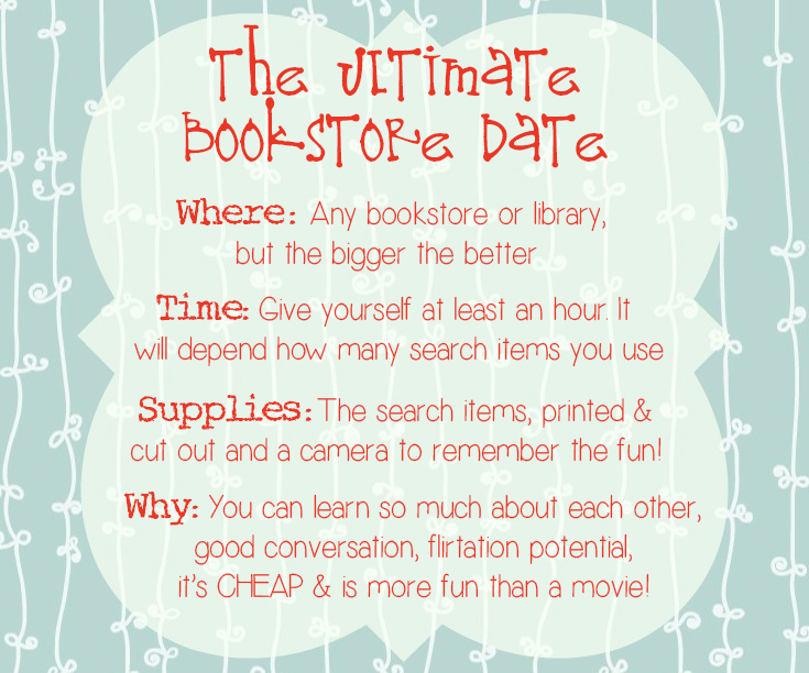 Bookstore date dating divas scavenger 9