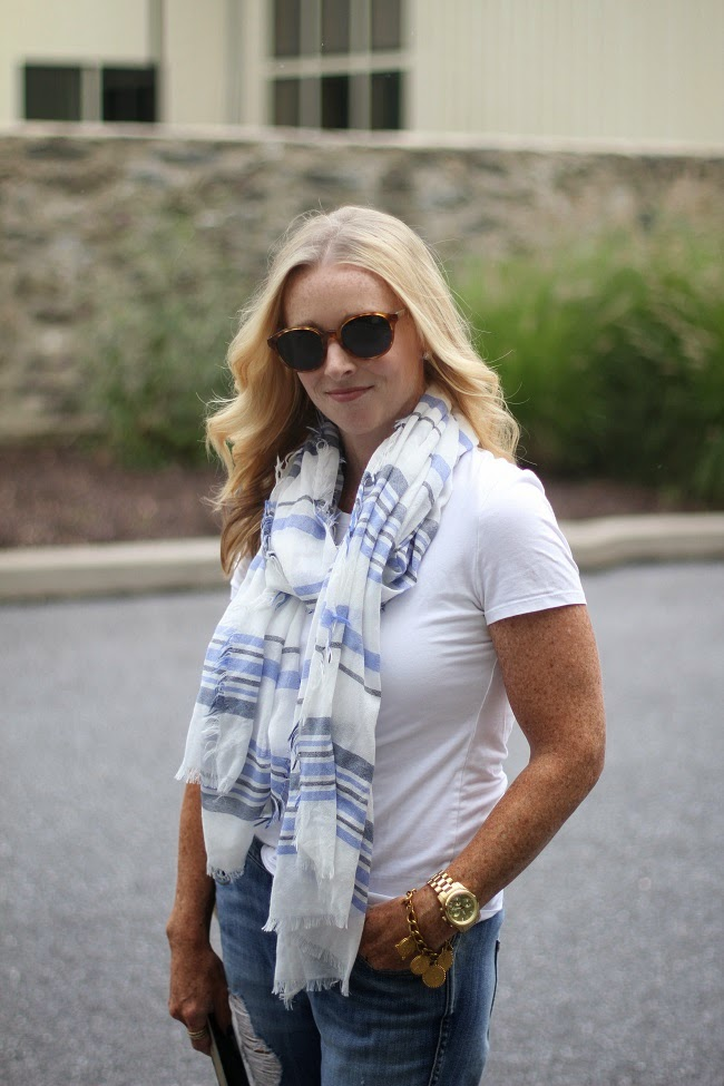elizabeth and james sunglasses, splendid white tee, jcrew boyfriend jeans