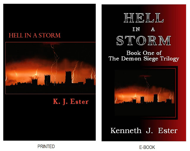 Hell in a Storm - book covers - A novel by K. J. Ester