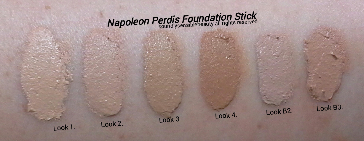 Napoleon Perdis Foundation Stick; Review & Swatches of Shades .