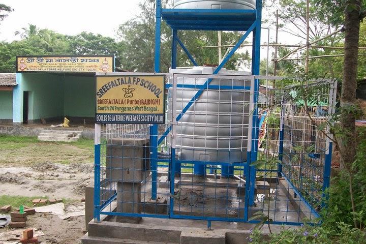 Station d'épuration d'eau aux Îles Sundarbans - Juillet 2014