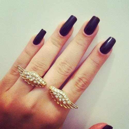 Red Nail Polish Lana Del Rey: The Salala: Black Nails