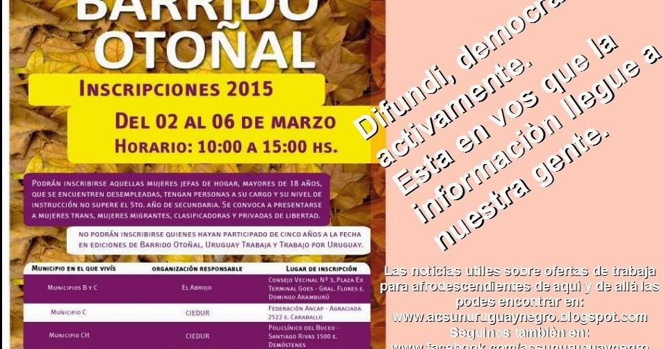 Uruguay negro inscripciones para barrido oto al 2015 for Inscripciones jardin 2016 uruguay