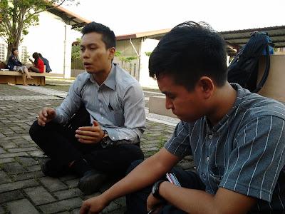 Andre dan Abi yang merupakan Ketua dan Wakil  BLM Politeknik Negeri Batam