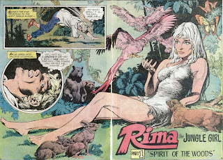 Two page spread from Rima the Jungle Girl #1 from DC Comics