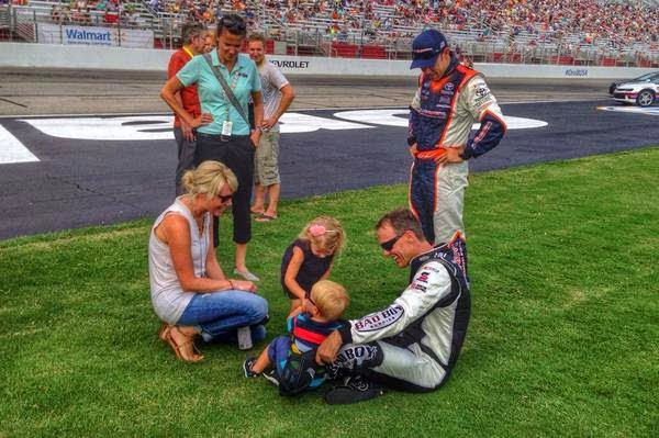 #NASCAR Kids Play Together On The Grass (Kids of NASCAR)