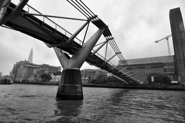 Under the Millenium Bridge London