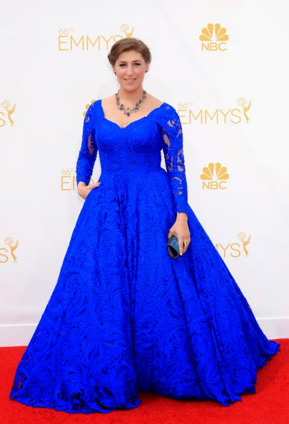 Blue Gown worn by Mayim Bialik