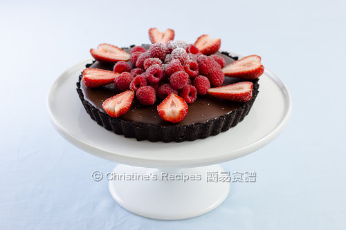 樹莓巧克力塔 Raspberry and Chocolate Tart02
