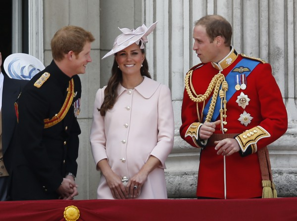 Kate Middleton with Prince William & Prince Henry