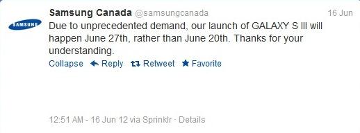 samsungcanadatwitter delayed release