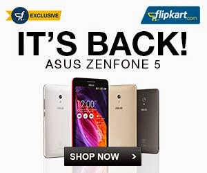 (Back in Stock) Asus Zenfone5 A501CG (8 GB) – Rs.9999 | Asus Zenfone 5 A501CG (16GB) – Rs.12999 @ Flipkart