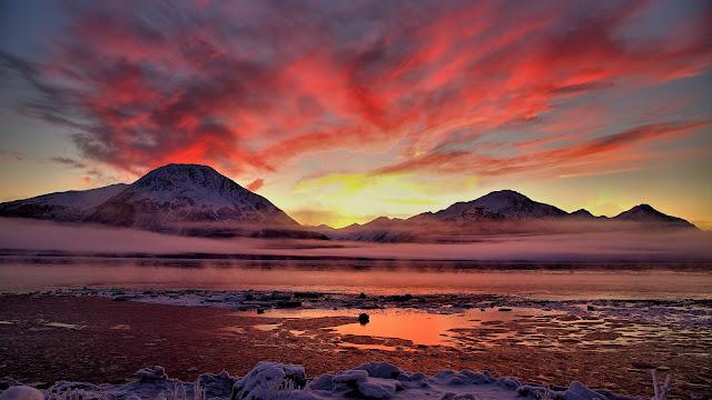 Twilight Cook Inlet Alaska HD Wallpaper