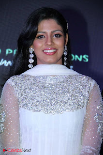 Iniya Latest Pictures in White Designer Salwar Kameez at Maasani Audio Launch 0007