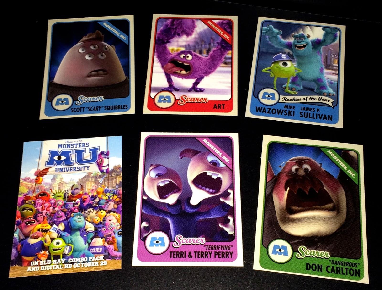 Dan the Pixar Fan: Monsters University: Disney Store Scare Cards