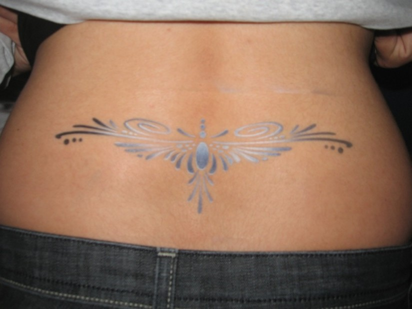 Sexy lower back tribal tattoos