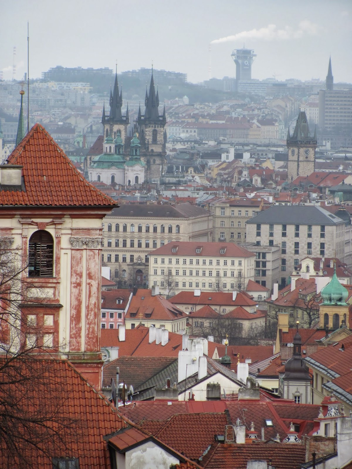 Tyn Church and More Red Roofs in Prague