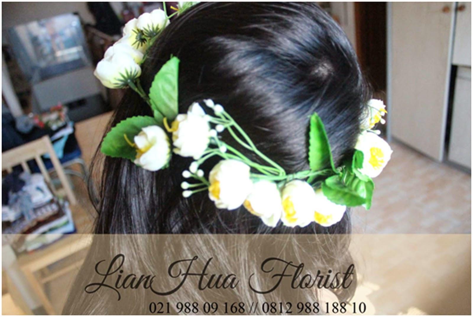 toko bunga, karangan bunga ucapan selamat, bunga pernikahan, headband bunga, bando bunga,