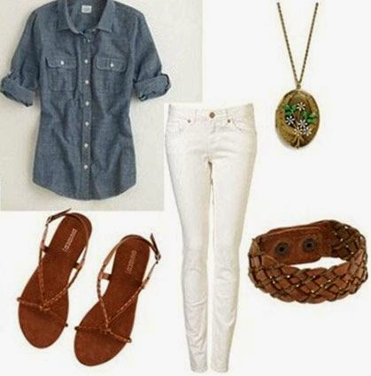Chambray button-down