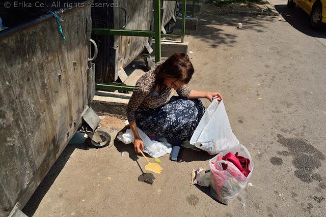 waste picker in Sarajevo