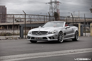 Mercedes Benz SL on Street HD Wallpaper