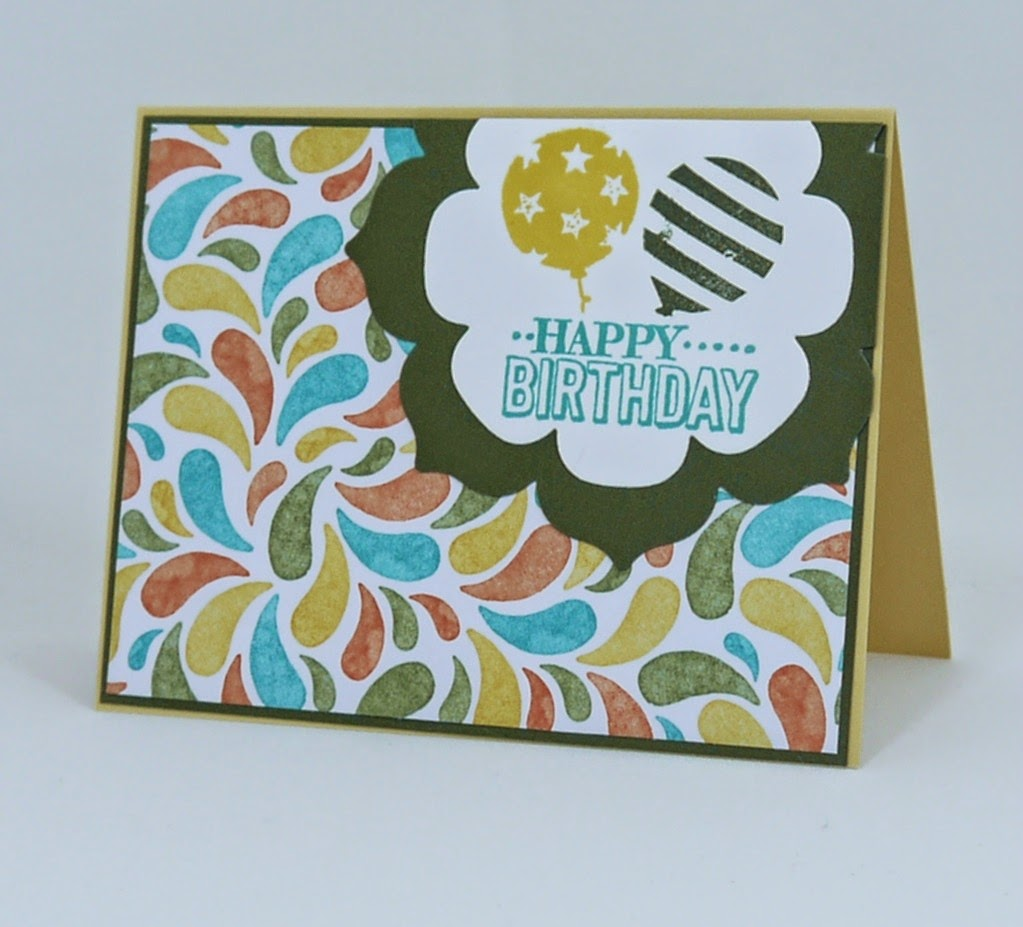 Miriam Castanho Bollinger, mstampinwithyou, stampin up, demonstrator, rs, birthday card, birthday bash dsp, balloon bash stamp set, big shot, floral frames, su