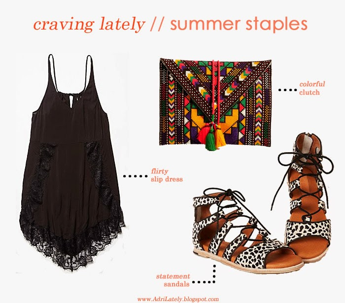 black dress, embroidered clutch, gladiator sandals for summer