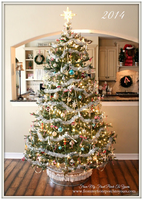 Vintage Themed-Christmas Tree Inspiration-From My Front Porch To Yours