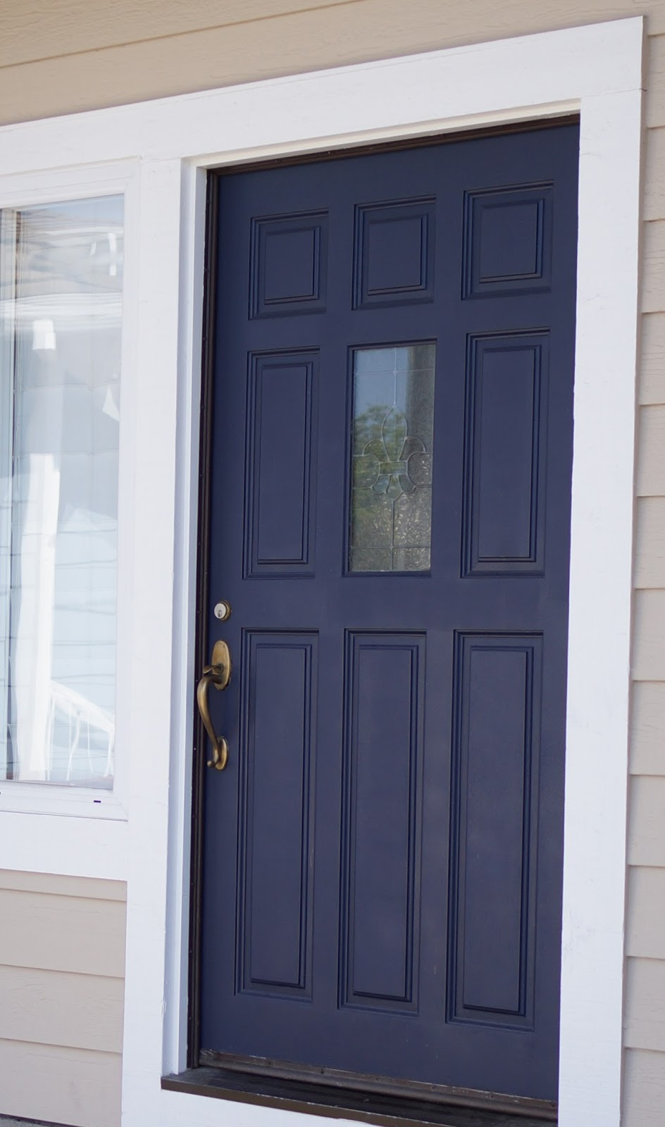 Dark blue front doors - Front Door I Only Painted It Three Times