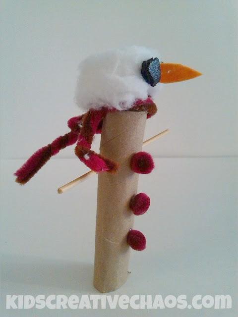 cardboard tube snowman
