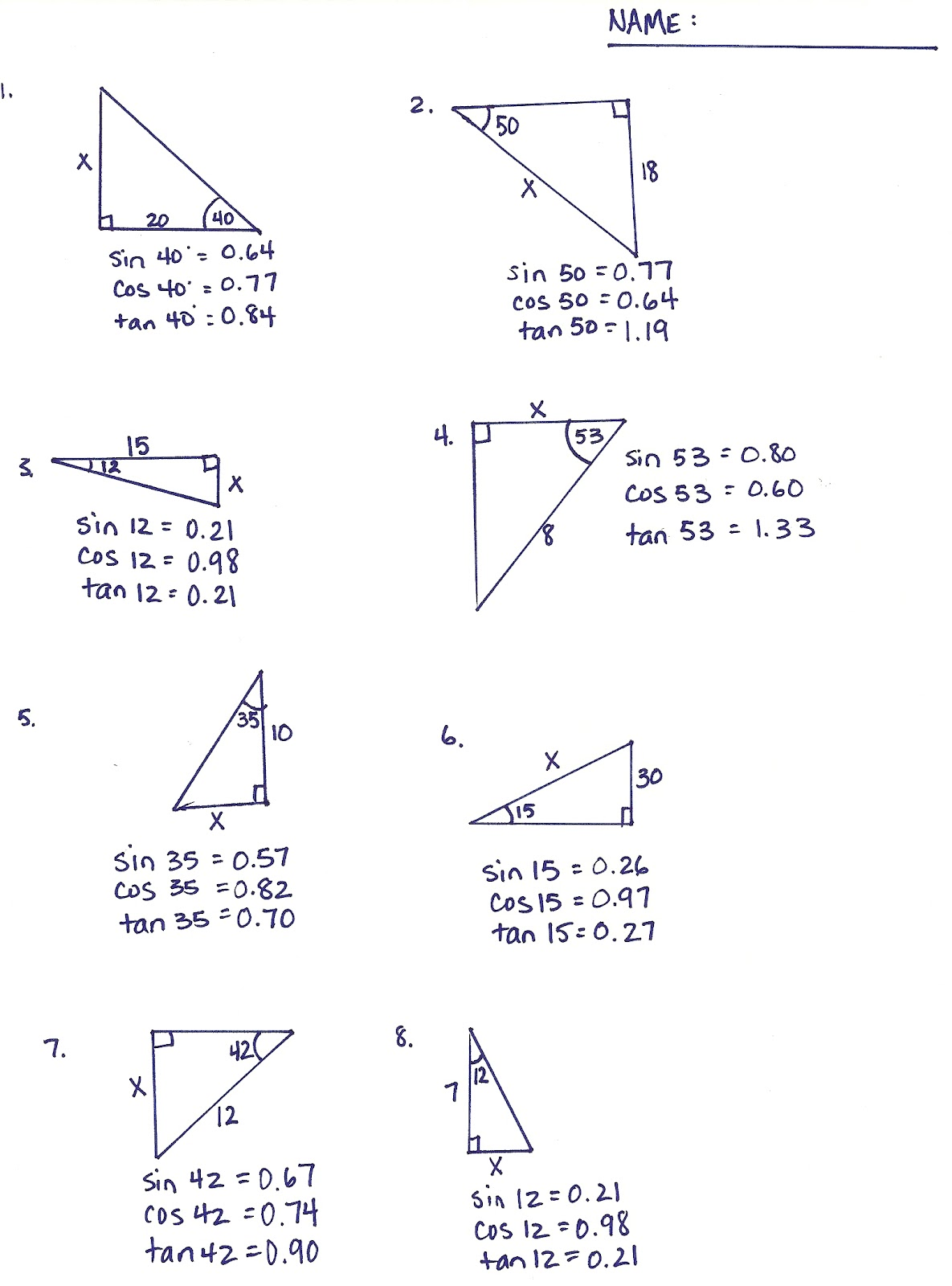 Free Worksheet Inverse Trigonometric Functions Worksheet inverse trigonometric functions worksheet workbook site using trig and journals online
