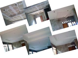 proses pengerjaan jenis gipsum untuk plafon rumah