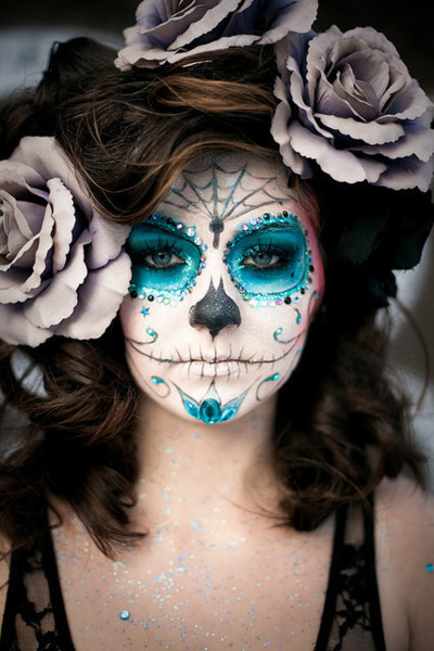 Sugar Skull Lady Makeup Images amp Pictures Becuo