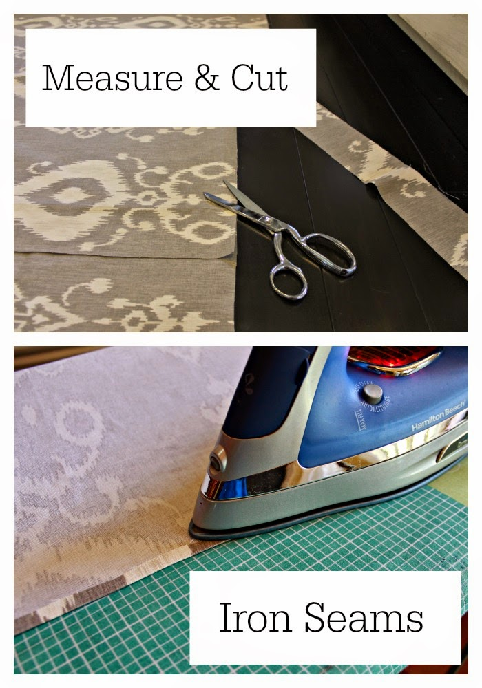 customizing store bought curtains with a glue gun