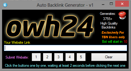 auto backlinks generator