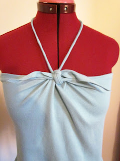 DIY, Easy Sewing, Halter, Summer Top, Bandeau, Hemp Trim