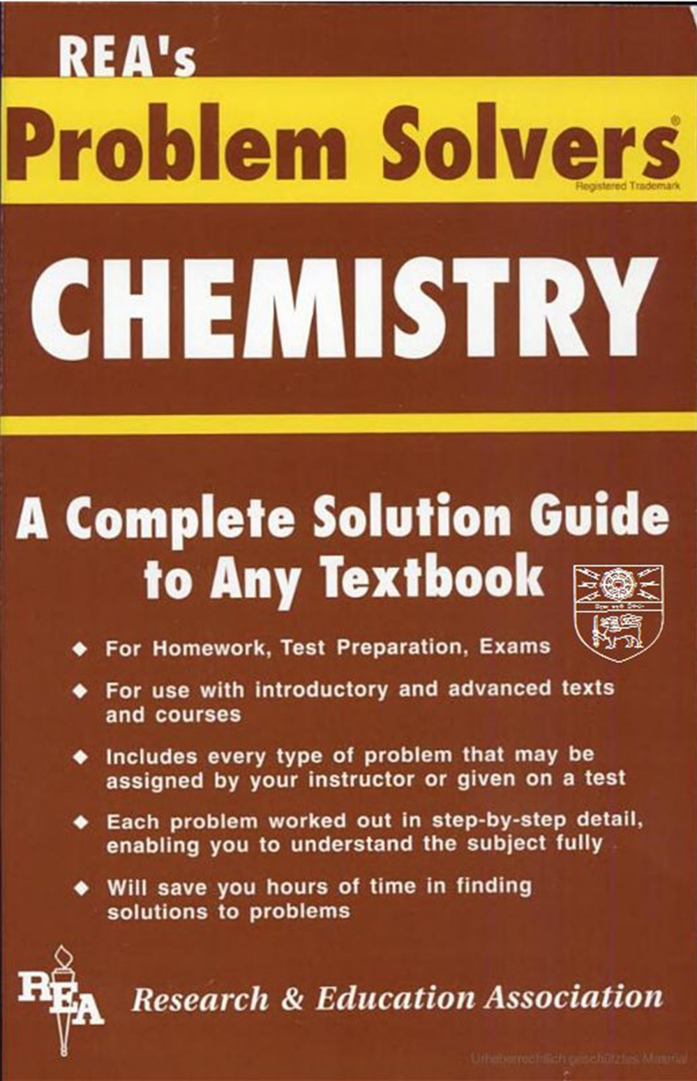 chemistry problem solver Get this from a library the chemistry problem solver [m fogiel research and education association] -- provides each kind of problem that might appear on an examination, and includes detailed solutions.