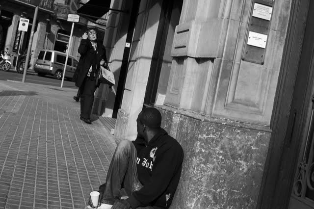 Begging in Barcelona
