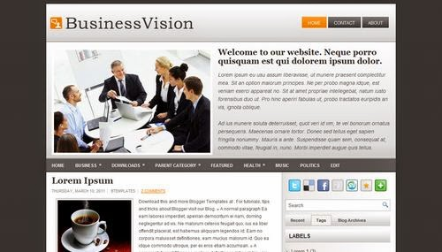 Business Vision - Free Blogger Template