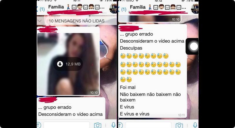 Jovem vaza vídeo se masturbando em grupo do Whatsapp