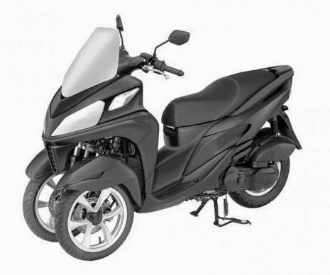 Yamaha T-Max 3 wheel