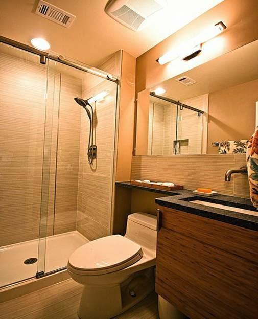 Iluminacion De Un Baño Pequeno:Ideas de diseños de baños pequeños – Colores en Casa