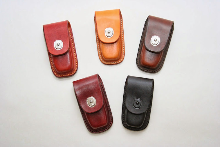 'Family' photo of a range of Belt pouches for Leatherman wave tools.